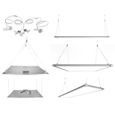 kit accessoires suspension panneaux led. Black Bedroom Furniture Sets. Home Design Ideas