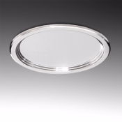 Downlight rond argenté